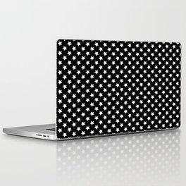 White Stars on Black Laptop & iPad Skin