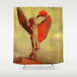 "Odilon Redon ""Icarus"" Shower Curtain"