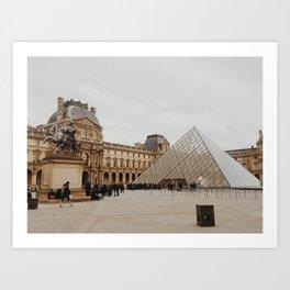 February's Louvre Art Print