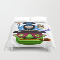 the thing Duvet Covers featuring Thing by Matej