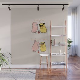 Oldsome Pug Wall Mural