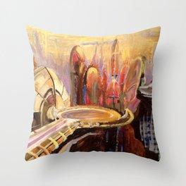 Coruscant Skyline Throw Pillow
