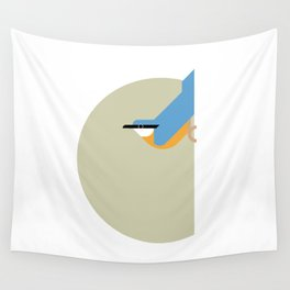 Nuthatch vector illustration Wall Tapestry