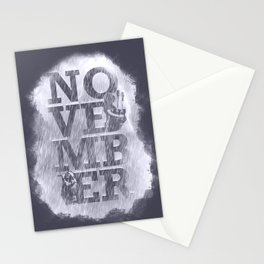 November Rain Stationery Cards
