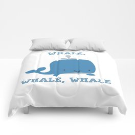 CARTOON WHALE Comforters