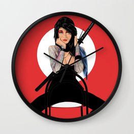 Samurai Warrior Girl - Lubna Wall Clock