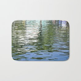 Colorful Reflections Abstract Bath Mat