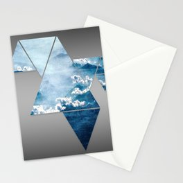 Fragmented Clouds Stationery Cards