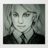 luna lovegood Canvas Prints featuring Luna Lovegood by Rosie Smith