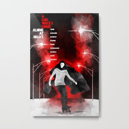 A GIRL WALKS HOME ALONE AT NIGHT :: POSTER 02 Metal Print