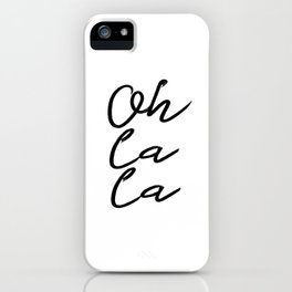 "PRINTABLE Art ""Oh La La"" Typography Art Print Typography Poster Floral art print iPhone Case"