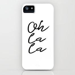 "PRINTABLE Art ""Oh La La"" Typography Art Print Typography Poster Floral art print iPhone Case"