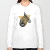 crystals Long Sleeve T-shirts featuring crystals by morgan kendall