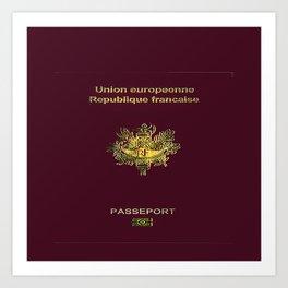 French Passport  Art Print