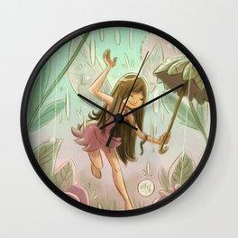 Goblins Drool, Fairies Rule! - Dewdrop Shower Wall Clock