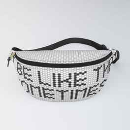 """It be like that sometimes"" Black & White Tile Fanny Pack"