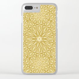 Rings of Flowers - Color: Naples Ochre Clear iPhone Case