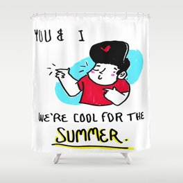 POP lyrics // COOL FOR THE SUMMER Shower Curtain