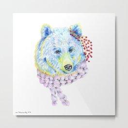 Forest Animals series - Bear Metal Print