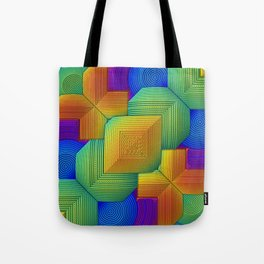 Color Patchwork Tote Bag