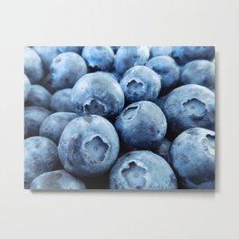 Fresh Ripe Blueberries Metal Print