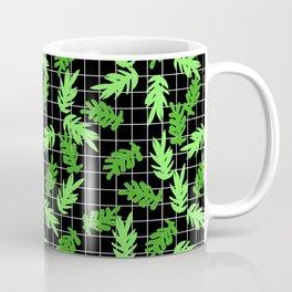 Leif - pattern grid minimal leaf repeating pattern hipster minimal iphone6 case for gender neutral  Coffee Mug