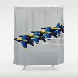 Navy's Blue Angels Airplanes in Formation Flight Shower Curtain