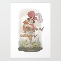 captain hook Art Prints featuring Captain Hook by Samantha Kay Davies