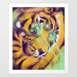 Laser Tiger Art Print
