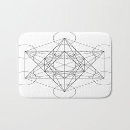 Sacred Geometry : Metatron's Cube / The Map of Creation Bath Mat