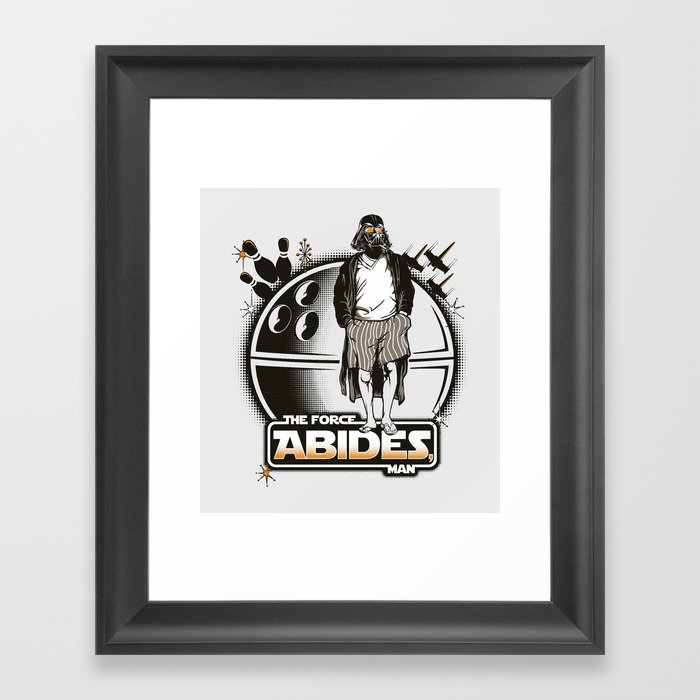 The Force Abides Framed Art Print