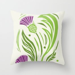 Thistle - Color Throw Pillow
