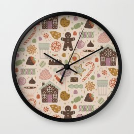 In the Land of Sweets Wall Clock