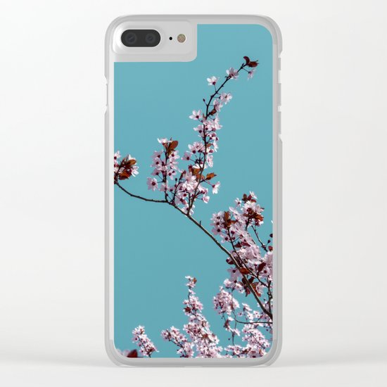 Tree in spring Clear iPhone Case