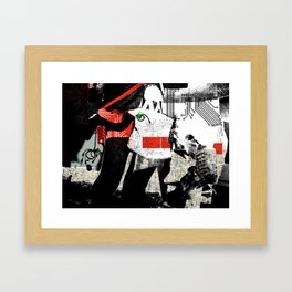 Short circuit shopping bug Framed Art Print