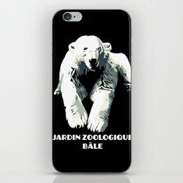 Vintage vector Zoo ad Basel polar bear iPhone Skin