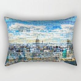 New York City Mosaic Rectangular Pillow