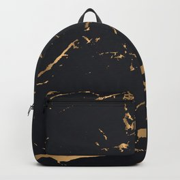 Black and gold faux marble Backpack