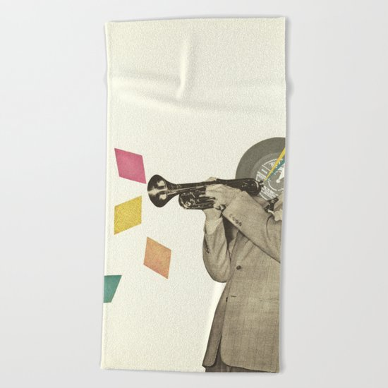 Blue Note Beach Towel