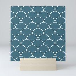 Scales - blue Mini Art Print