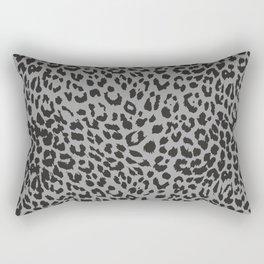 Black & Gray Leopard Print Rectangular Pillow