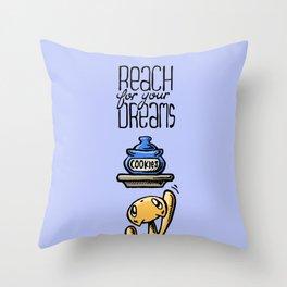 Skribbles: Reach for your dreams Throw Pillow