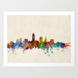 Cleveland Ohio Skyline Cityscape Art Print