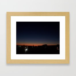 twilight star Framed Art Print