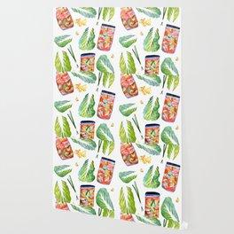 Kimchi Ingredients Spicy Fun Watercolor  Wallpaper