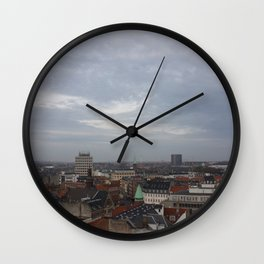 View from the Round Tower Copenhagen 1 Wall Clock