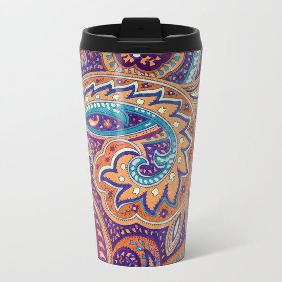 Summer paisley Metal Travel Mug