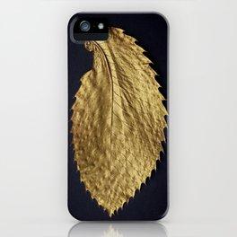 Gol Leaf Wings on Black iPhone Case