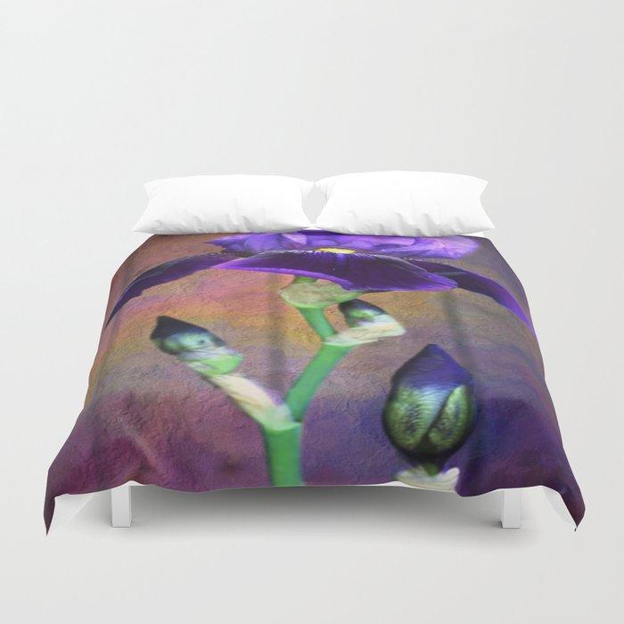Sweet Purple Iris Duvet Cover