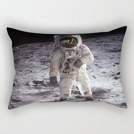 Apollo 11 - Iconic Buzz Aldrin On The Moon Rectangular Pillow
